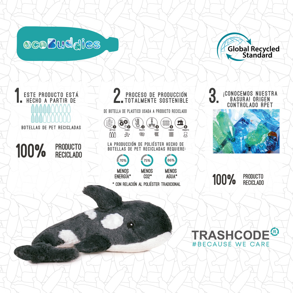 """Alt=""""Eco Buddies peluches 100% reciclados"""""""